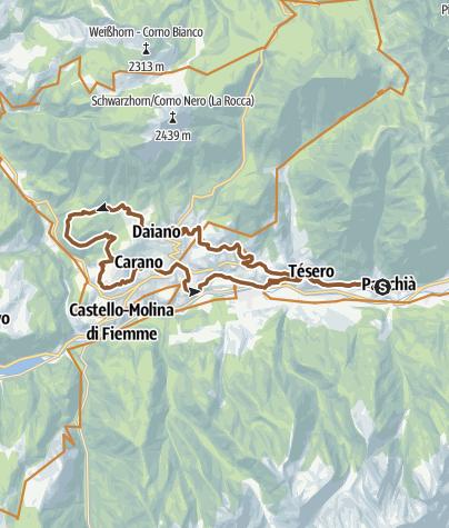 Cartina / Val di Fiemme : Solombo - Brozin- Tour 927