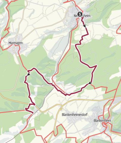Karte / GPS-Tour: EifelBahnSteig 7. Etappe: Von Nettersheim nach Blankenheim