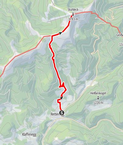 "Karte / ""alpannonia"" - Zubringer: Rettenegg - Stuhleck - über den Planetenweg"
