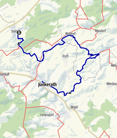 Karte / GPS-Tour: EifelBahnSteig 10. Etappe: Von Dahlem nach Jünkerath - Moorpfad, Vierherrenstein, Kalvarienberg und Hippelsteinchen