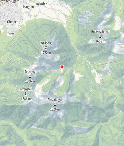 Karte / Blankensteinhütte (1214m) - DAV Sektion Oberland