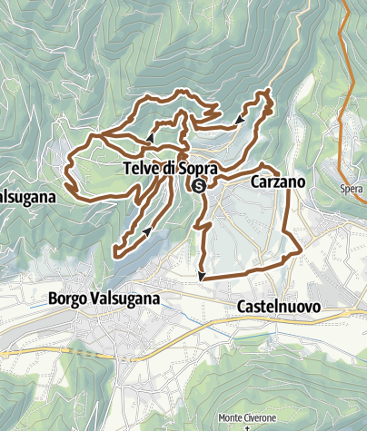 Cartina / Valsugana&Lagorai - 2341 Giro 3T BIKE