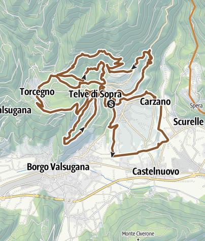 Karte / Valsugana&Lagorai - 241 3TBIKE