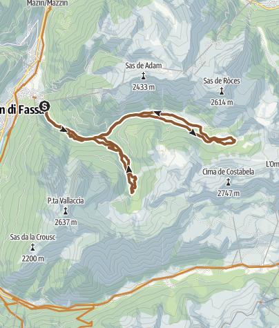 Pozza - San Nicoló Valley - Monzoni valley • Mountain Bike ...