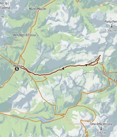 Moena - San Pellegrino Pass - Fuciade hut - Moena • Mountain Bike ...