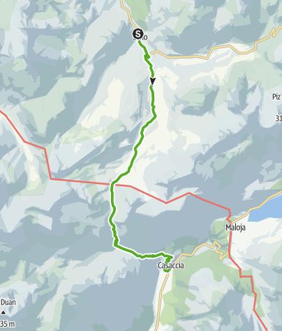 Karte / Via Sett 4: Über den Septimerpass