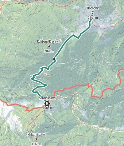 Térkép / Wandern am Panoramaweg Südalpen - Hochobir vom Schaidasattel aus