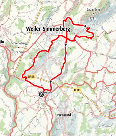 Karte / Von Oberreute über den Balzenberg
