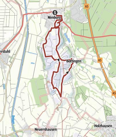 Karte / Der Nimbergpfad in Teningen-Nimburg
