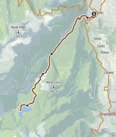 Cartina / Dolomiti di Brenta Bike Explorer - Val di Non: il lago di Tovel