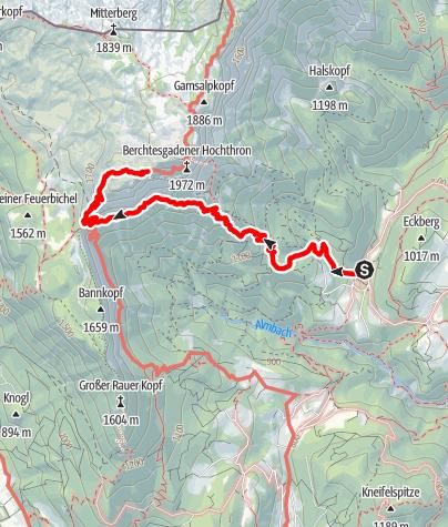 Karte / Stöhrhaus von Ettenberg über Scheibenkaser und Rosslandersteig