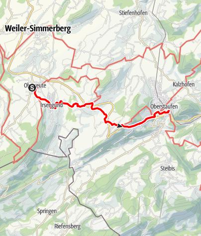 Karte / Von Oberreute nach Oberstaufen