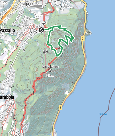 Karte / Via Ferrata San Salvatore