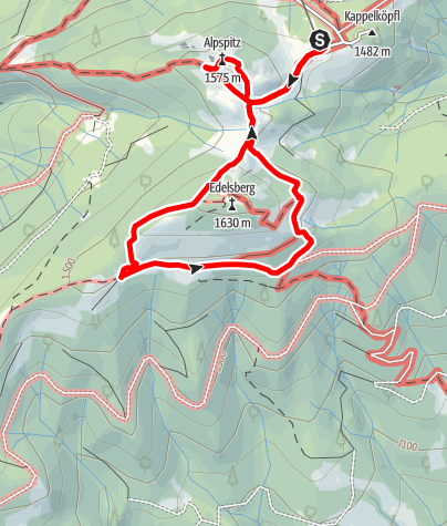 Karte / Nesselwanger Symbolwege - Gipfelglück