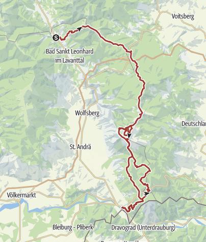 Karte / Koralm Kristall Trail: Etappen 1-8 Gesamtübersicht