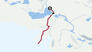 Kart / Jøkulhytta om sommeren