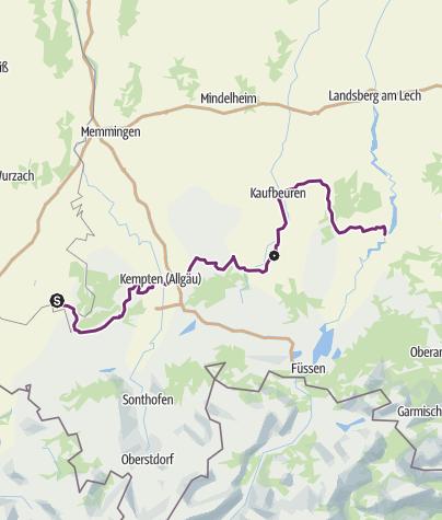 Karte / 02. Allgäu-Radweg - Abschnitt der Radrunde Allgäu