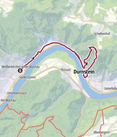 Karte / Vogelbergsteig mit Anreise per Boot