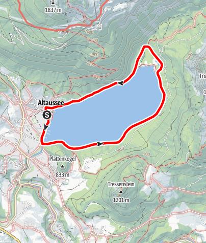 Karte / Altausseer Seerundweg