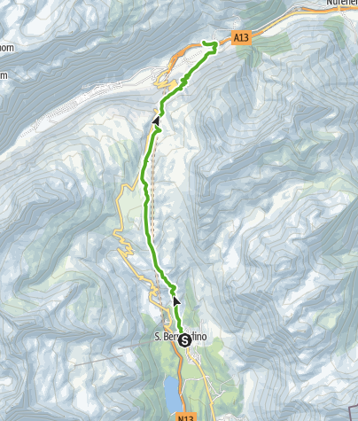 Map / 35.01 Walserweg Graubünden Etappe 1: San Bernardino - Hinterrhein