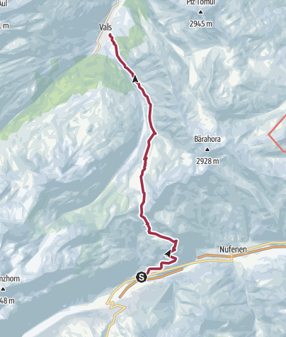 Karte / 35.02 Walserweg Graubünden Etappe 2: Hinterrhein - Vals