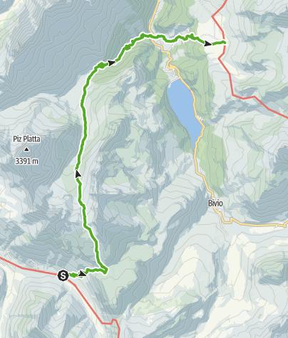 Karte / 35.10 Walserweg Graubünden Etappe 10: Juf - Alp Flix