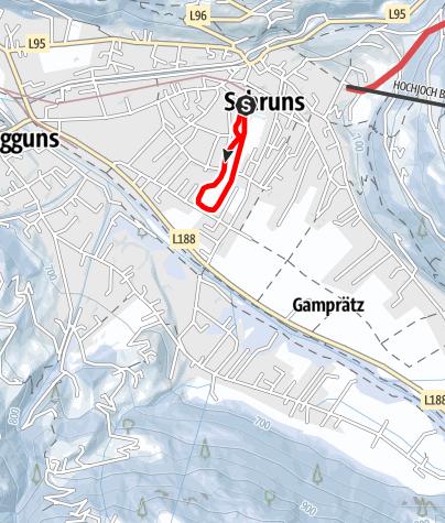 Karte / Nr. 34: Dorfrunde Schruns (klassisch)