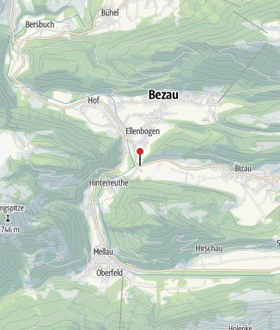 Karte / Reuthe, Katholische Pfarrkirche Heiliger Apostel Jakobus