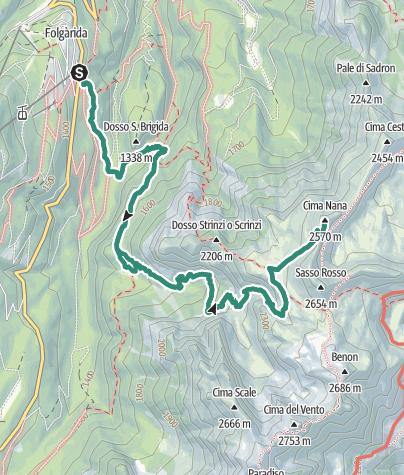 Karte / Bivacco Costanzi – Cima Nana