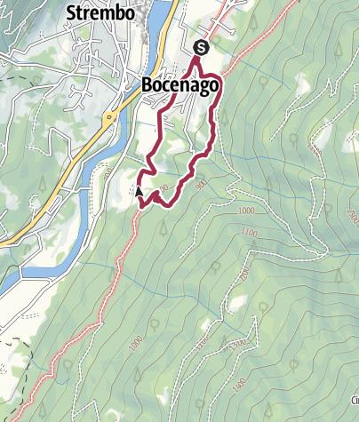 Karte / Cascata di Bocenago