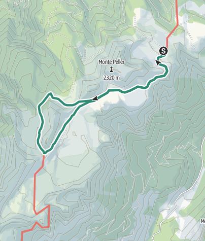Map / Lago delle Salare - Passo della Nana