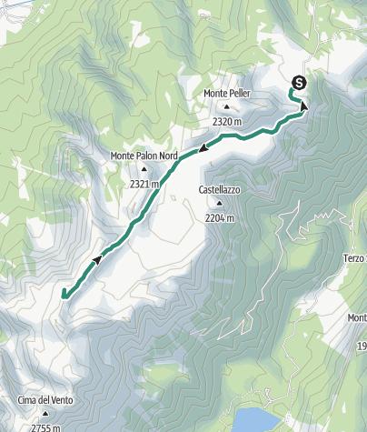 Map / Cima Nana da malga Tassulla