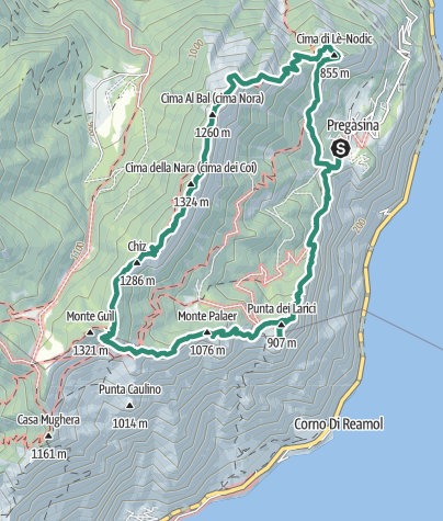 Karte / Trekking di Cima Nara