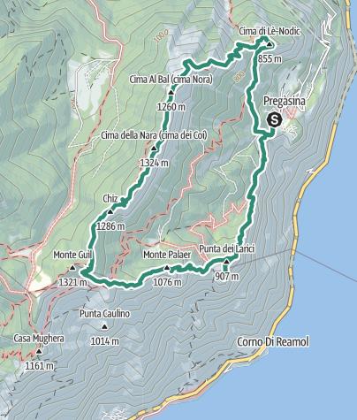 Map / Trekking di Cima Nara