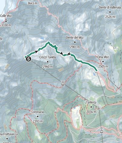 Map / Funivia Peio 3000 - Doss dei Cembri