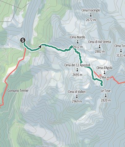 Cartina / Cima Pratofiorito