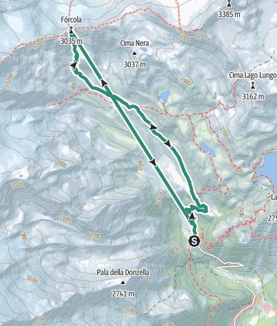 Map / Rifugio Larcher – La Forcola