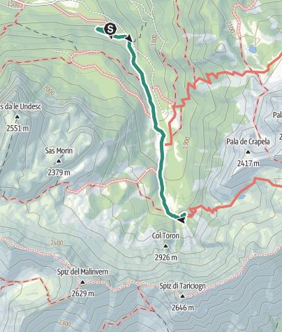 Karte / Rifugio Taramelli
