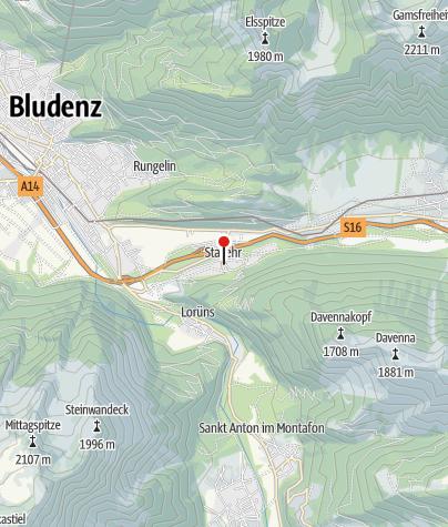 Karte / Stallehr, Wallfahrtskirche Mariä Geburt
