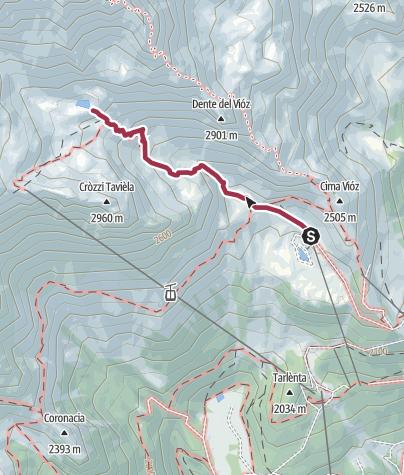 Map / Doss dei Cembri – lago della Mite