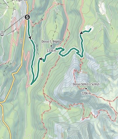 Cartina / Folgarida – Malga Selva Nera di Carciato