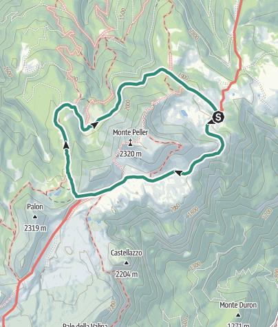 Karte / Giro attorno al Monte Peller