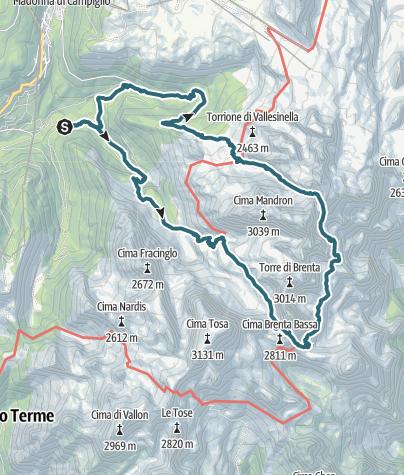 Karte / Giro del Brenta Centrale - Sentiero Orsi