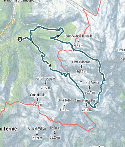 Map / Giro del Brenta Centrale - Sentiero Orsi