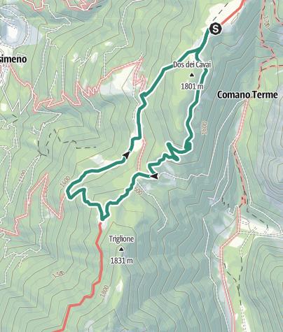 Map / Giro delle malghe della val d'Algone