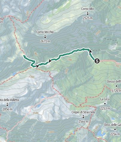Karte / Val di San Valentino – Bivacco Malga Dosson