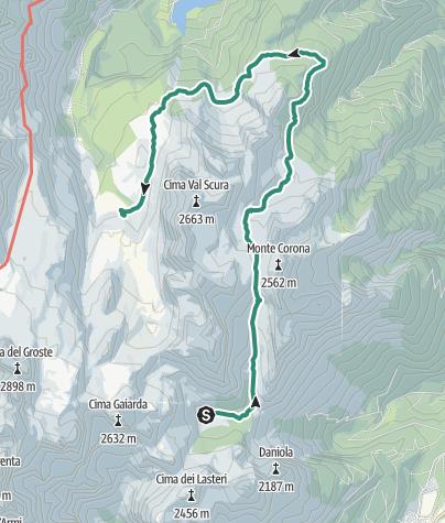 Karte / Brenta Trek - Etappe 5 - Malga Spora – Malga Flavona