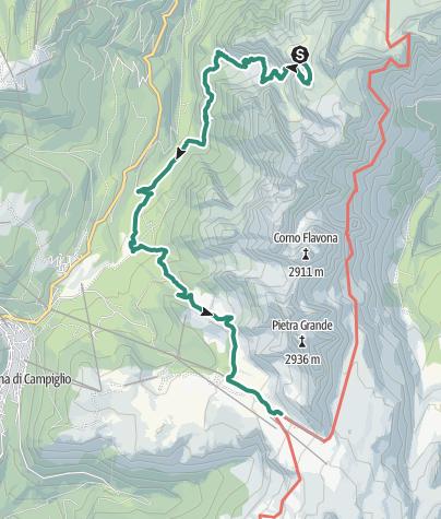 Map / Brenta Trek - Etappe 8 - Costanzi-Albasini – Rif. Stoppani