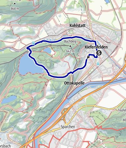 Karte / Hechtsee Rundwanderung Aufstieg über Sonneck zurück am Kieferbach entlang