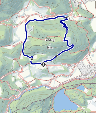 Karte / Nußlberg von Baumgartenhof zum Kircherl, Abstieg zum Stausee